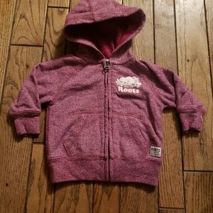 Roots   Heathered Red Hoodie - S (3-6M)